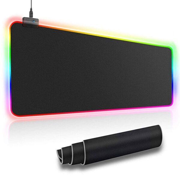 PODKLADKA POD MYSZ LED RGB
